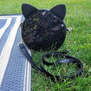 NWOT Luv Betsey Johnson Sequin Cat Ear Crossbody
